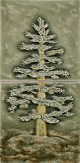 Decorative Relief Tiles AA Fir Tree 100x100 Panel 100 tiles Pratt Larson 63