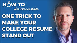 This One Trick Will Make Your College Resume Stand Out Youtube
