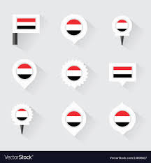 Pins For Maps Yemen Flag And Pins For Infographic And Map Design
