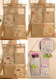wall hanging organizer office. 1PC Creative Ecofriendly Fashion Burlap Office Organizer Diy Desks Stationery Items Supplies 4 Pockets Wall Hanging