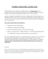 Outline For A Resume For Job – Armni.co