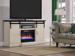 tv stands with fireplace built in lovely hogan electric fireplace tv stand in weathered white