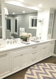 bathroom makeup vanity. Master Bathroom Makeup Vanity Semi Transparent White Bath Curtain Built In Wall Shelves Chrome Metal Soap Dispenser M
