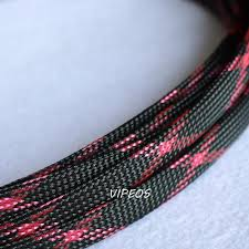 popular wire harness protection buy cheap wire harness protection 3meter braided cable 10 18mm wiring harness loom protection sleeving black red for diy