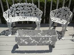 Stunning Cast Iron Bistro Chairs Iron Patio Furniture Set Amazing
