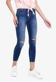 High Rise Super Skinny Crop Jeans