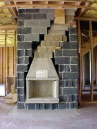 masonry fireplace s wood burning insert construction drawings