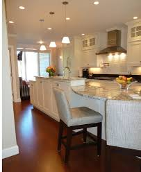 Kitchen marble top Grey Mesmerizing White Kitchen Design With Excellent Lighting Plus White Marble Top Kitchen Island Table With Seating Eastlawus Kitchen Mesmerizing White Kitchen Design With Excellent Lighting