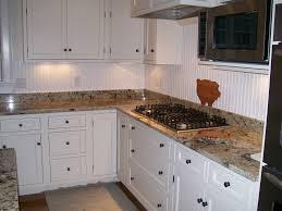 White Cabinets Backsplash White Kitchen Cabinets With Beadboard Backsplash Beadboard