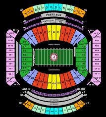 Studious University Of Alabama Football Seating Chart 2019