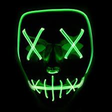 Light Up Skull Mask Pin On Halloween Led Lights