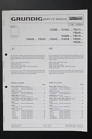 grundig cf cbf original service manual service manual grundig vs500 vs505 vs510 vs550 vs600 original service manual wiring diagram