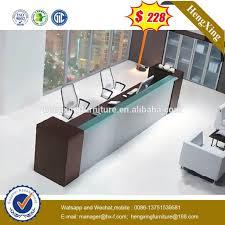 modern glass display reception desk hx rt801 glass display regarding reception desk with glass display