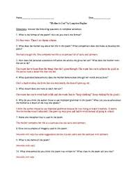 langston hughes worksheets switchconf to son by langston hughes poem questions and ppt lesson