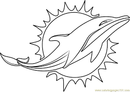 Football Miami Dolphins Coloring Page Kids Coloring Pages Miami