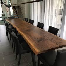 live edge black walnut 12ft dining table from a single slab boisdesign co