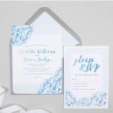 Light Blue Wedding Invitations Hydrangea Blue Wedding Invitation