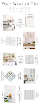 Quick Guide: 5 Beautiful Backsplash Tiles for White KitchensBECKI ...