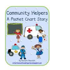 Community Helpers Chart Pdf Community Helpers A Pocket Chart Story
