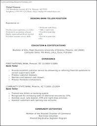 Teller Resume Samples Bank Teller Resume Sample Example Home