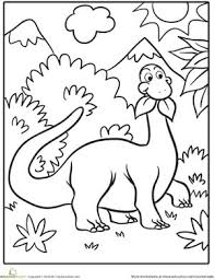 Cute Dinosaur Coloring Page Kleurplaten Prehistorie Images Dinosau