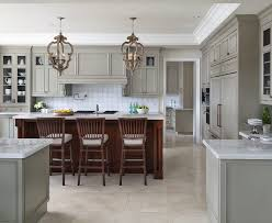 Transitional Kitchen Lighting Pewter Cabinets Kitchen Transitional With White Countertop