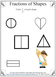 Fraction Coloring Sheets And Math Coloring Pages Grade First ...