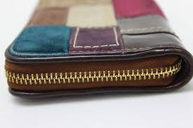 COACH coach holiday patchwork large zip around wallet multi-color 40925 KK  0601 Rakuten card Division