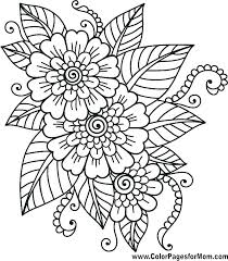 Hard Flower Coloring Pages For Teenagers 11 Of Flowers Printable