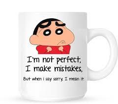 Huppme Sorry Like Shinchan Ceramic Mug Price In India Buy Huppme Gorgeous Sorry