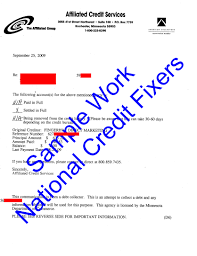 Credit Letter Sample Letter Idea 2018
