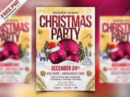 Christmas Party Flyer Design Psd Psdfreebies Com