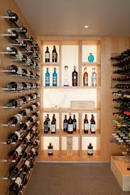 Wine display ideas wine cellar contemporary with recessed lighting light  wood