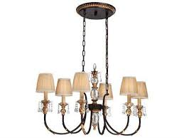 metropolitan lighting bella cristallo french bronze with gold highlight six lights 42 wide