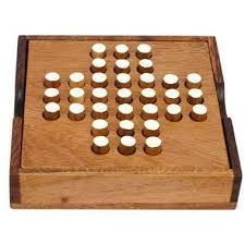 Wooden Peg Solitaire Game Have fun on the go with this wooden pegjumping solitaire game 5
