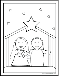 Coloring Page Of Baby Jesus Zupa Miljevcicom
