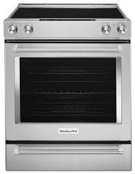 kitchenaid 30 slide in electric convection range stainless steel kseb900ess