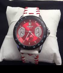 14 best images about baseball watches stitching winner watch face custom strap strap is made from the leather of a real baseball no battery required