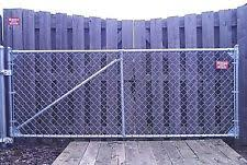 chain link fence double gate. 4\u0027 Galvanized SINGLE INDUSTRIAL CHAIN LINK DRIVEWAY Gate Kit HD SHIPS FREE Chain Link Fence Double Gate O