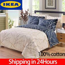 100 cotton rich 3pcs printing sanding duvet cover soft bedding set pillow cases king