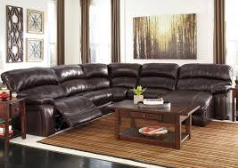 leather sectional sofa with chaise dark brown leather sectional sofa ashley furniture