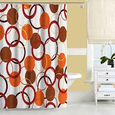 Orange Shower Curtain Yellow and Red Bathroom Decor Bath