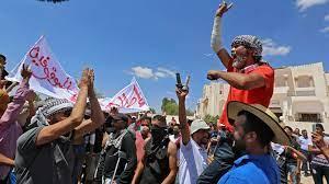 مظاهرات لليوم الثالث على التوالي بولاية تطاوين جنوب تونس