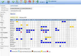 Staff holiday leave planner and absence management