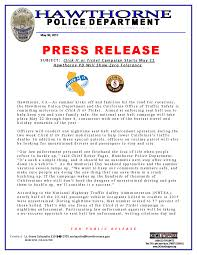 Click It Or Ticket Enforcement Hawthorne Police