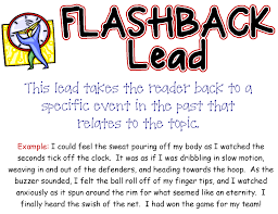 writing a good lead this is one of printable posters to help flashback lead beth newingham