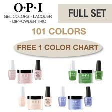 Opi Gel Colors Lacquer Powder Perfection Trio Full Set 101 Colors
