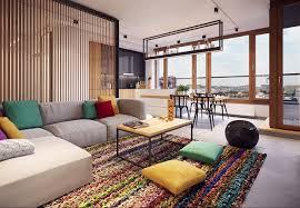 open plan apartment interior design