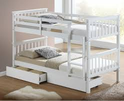 calder white finished single bunk bed with storage drawers bunk beds by bedz4u