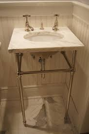furniture rustic bathroom sink consoles small single wood metal double undermount with marble top